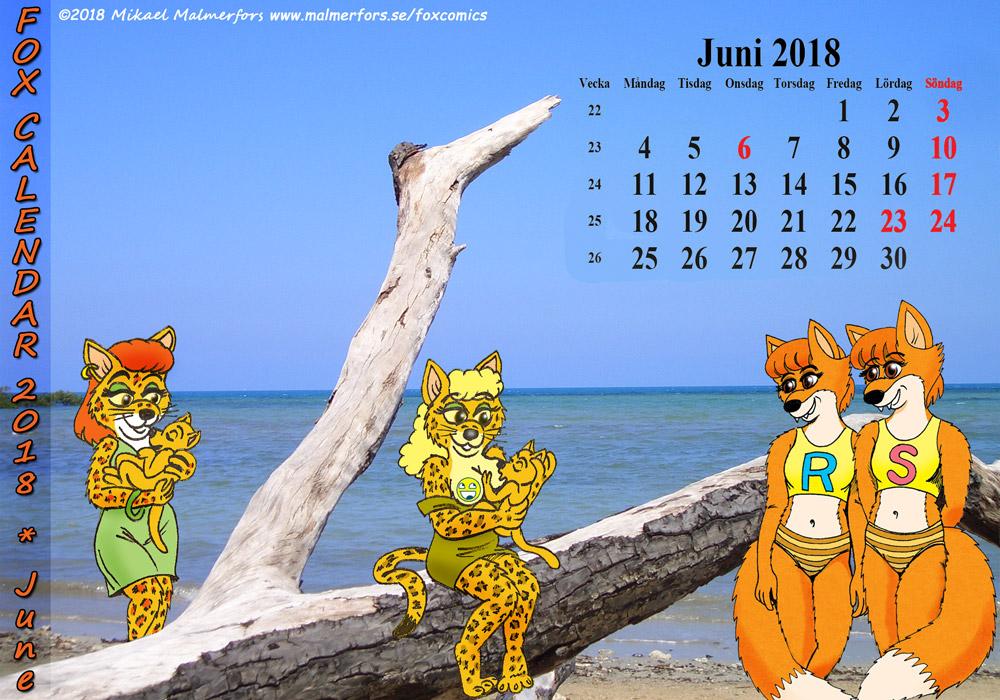 Fox Calendar 2018 - June by micke-m