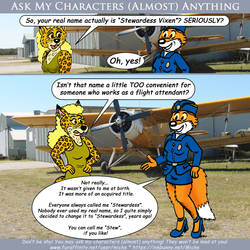 Ask My Characters - Stewardess Vixen by micke-m