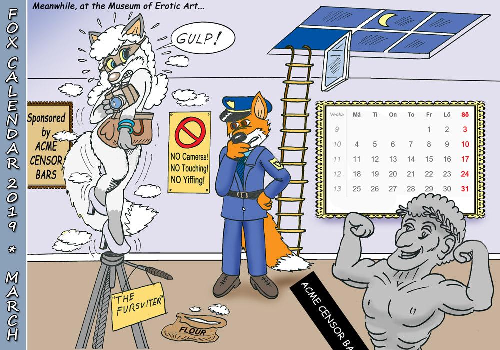 Fox Calendar 2019 - March by micke-m