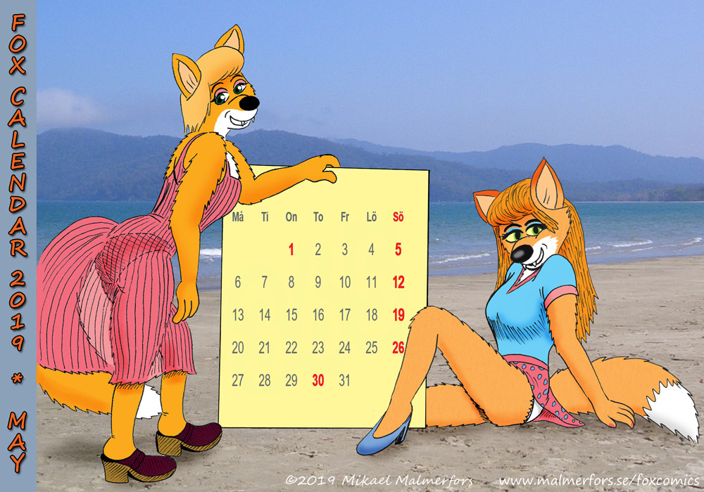 Fox Calendar 2019 - May by micke-m