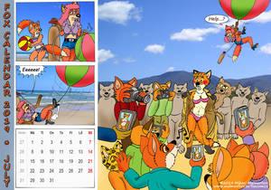 Fox Calendar 2019 - July
