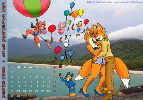 Fox Calendar 2019 - September