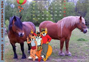 Fox Calendar 2019 - October