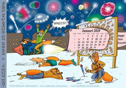Fox Calendar 2020 - January