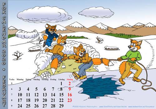 Fox Calendar 2020 - February