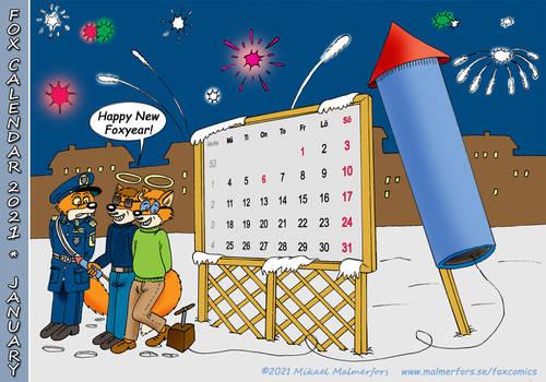 Fox Calendar 2021 - January