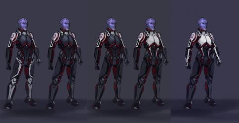 Aria armor sketches