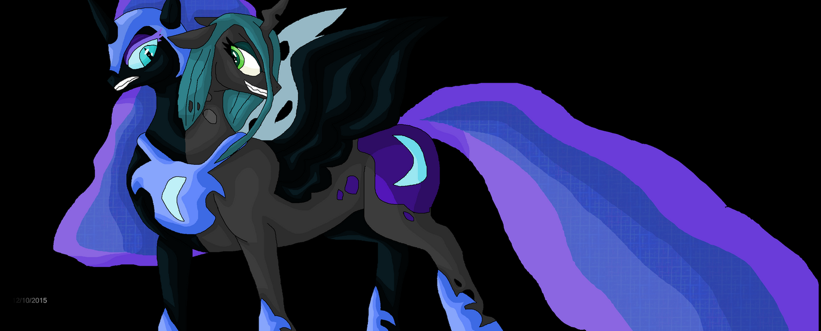 Nightmare Moon and Queen Chrysalis merge by Mojo1985 on ...