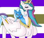 Trixie and Celestia merge