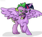 Twilight and Spike fusion