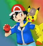 Ash and Detective Pikachu conjoinment