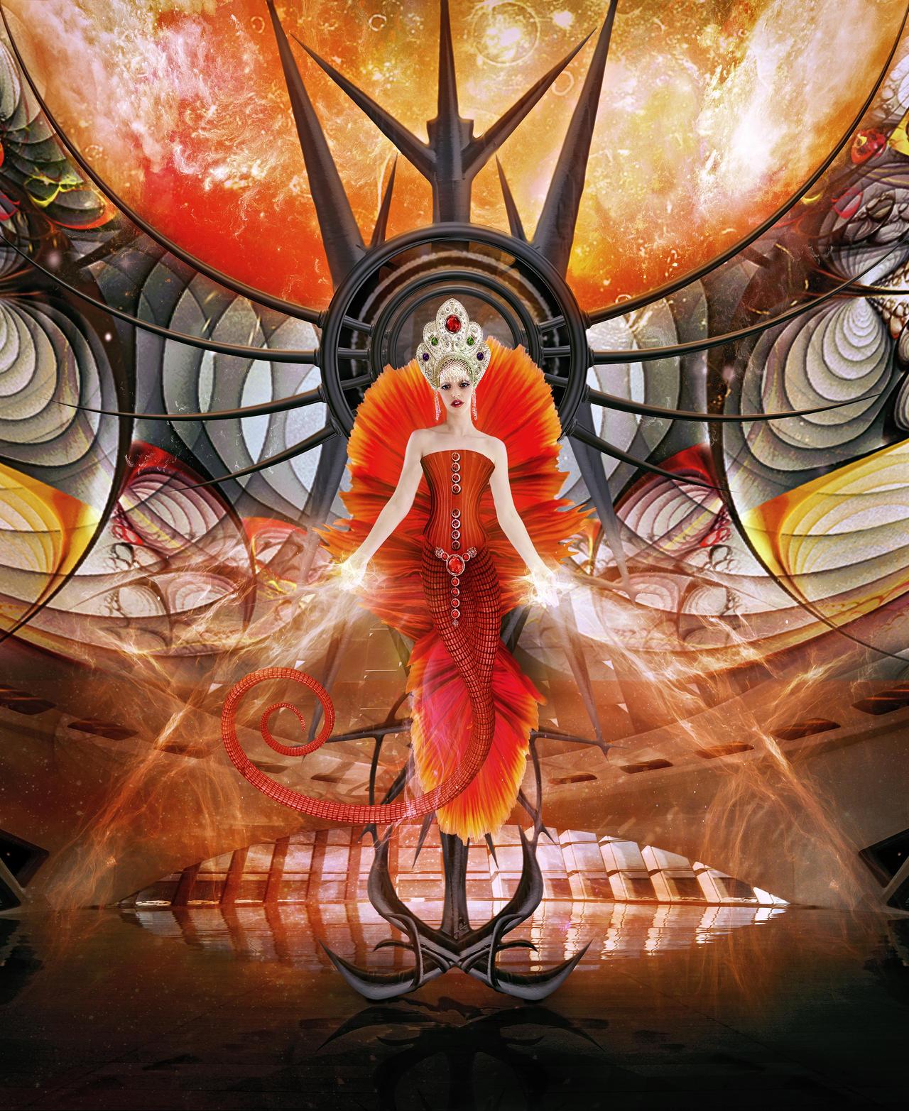 Alien Queen - Keeper of the Flame by shoutsandwhispers