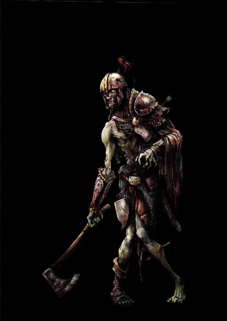 Zombie Warrior by SergioSilvan