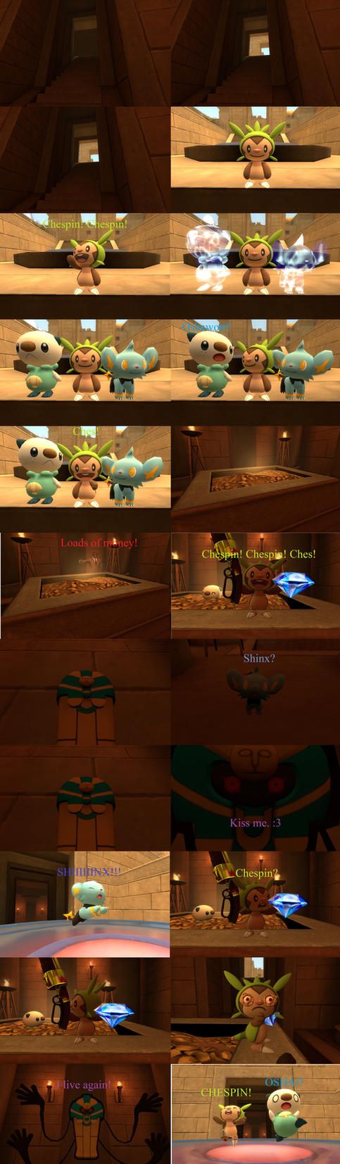 Chespin and Friends' Treasure Trouble by KennyVsTheUniverse