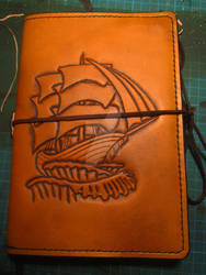 Leather cover for a Travellers Journal
