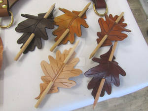Oak Leaf Barrettes/Hairpins