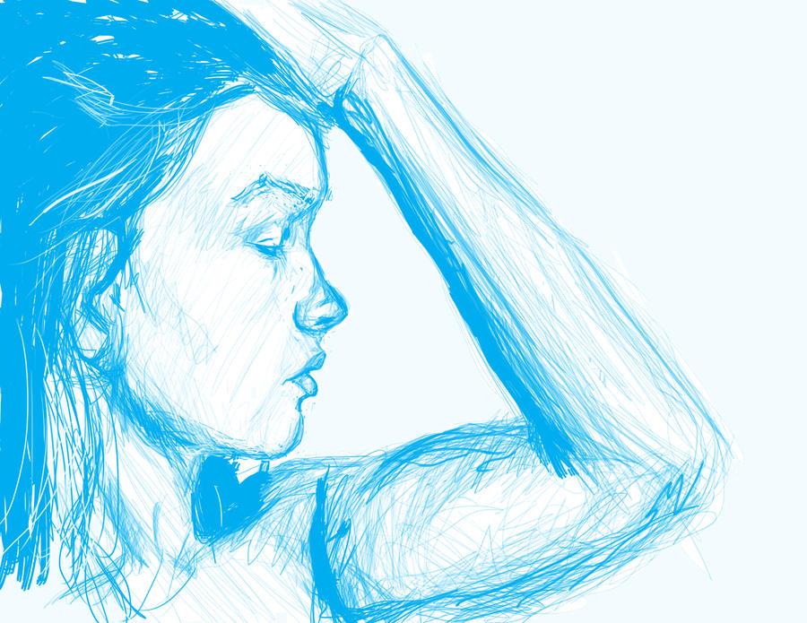 woman in blue redo by Blueyesopn