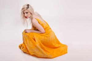 orange dress by szorny-stock