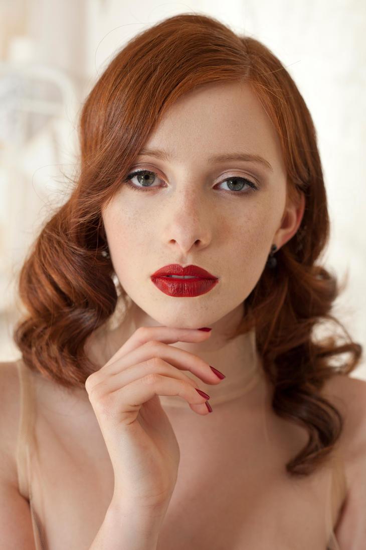 red lips by szorny-stock