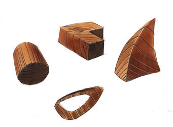 Copic Marker: Wood by everydaydennis