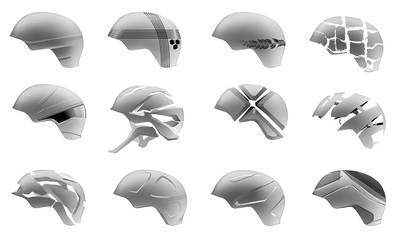 One hundred helmets - pt. 1 by everydaydennis