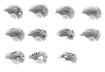 One hundred helmets - pt. 4 by everydaydennis