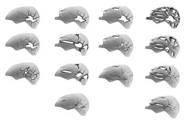 One hundred helmets - pt. 12 by everydaydennis