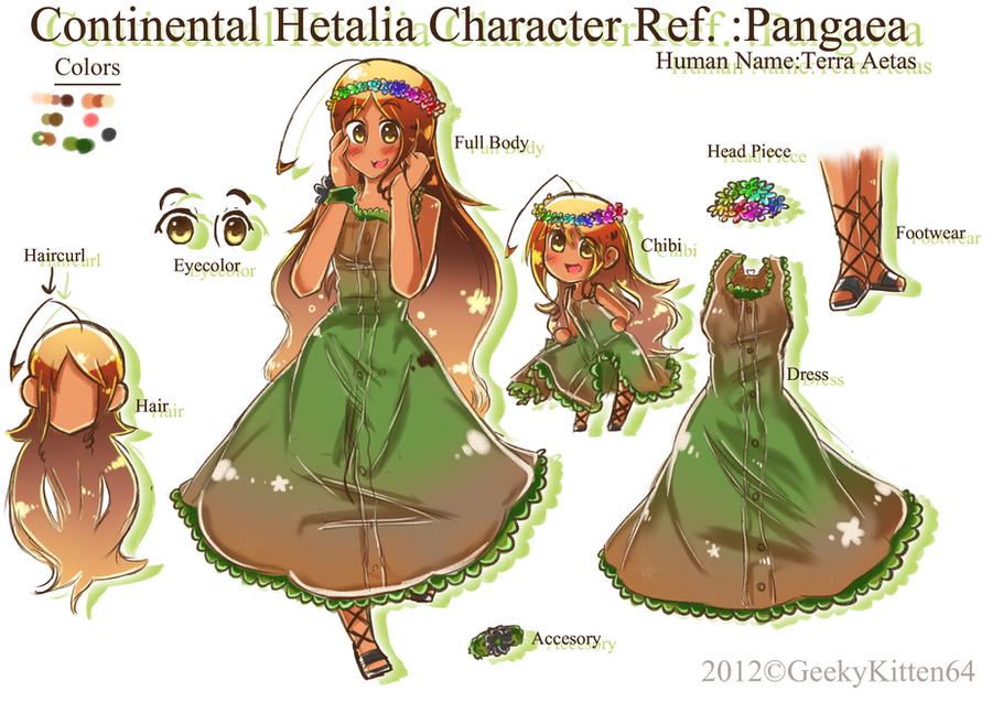 APH OC Pangaea Ref by GeekyKitten64