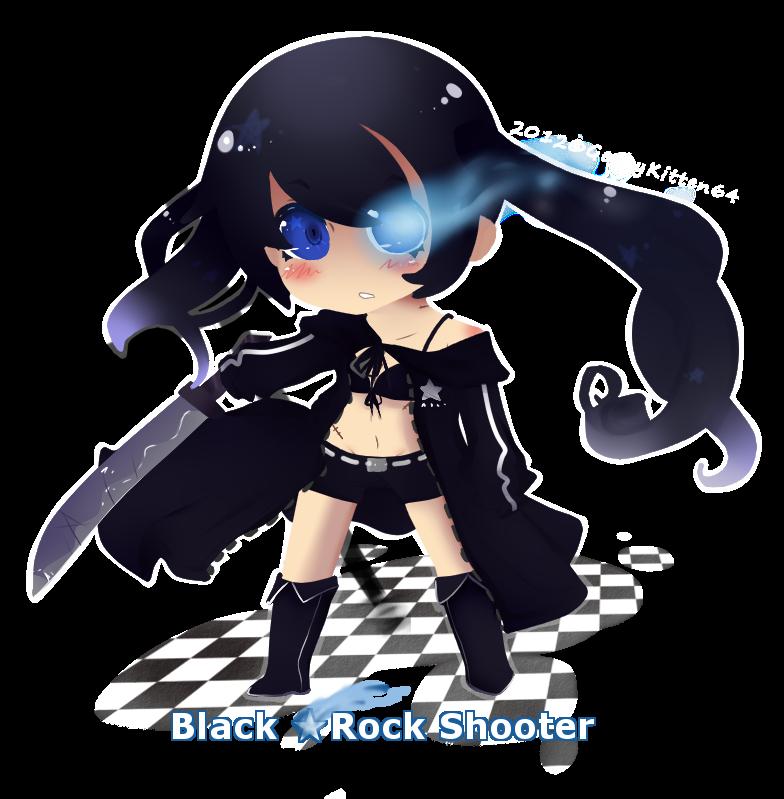 Chibi Black Rock Shooter by GeekyKitten64