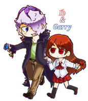Commission: Ib and Garry by GeekyKitten64