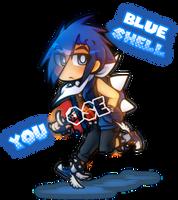 Mario Kart Blue Shell Personified by GeekyKitten64