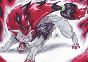Zoroark- Touch my pup and die by Fenrienne