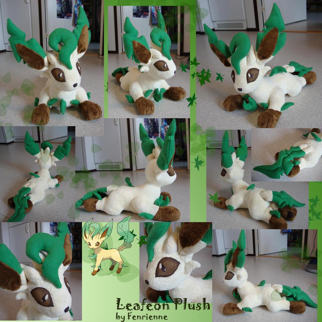 Goodies des Eeveelutions ^^ Leafeon_plush_by_fenrienne-d2xxkg9