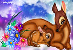 Bambi and his mother (Happy Mother's Day)
