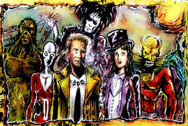 Dark  justice league and Sandman