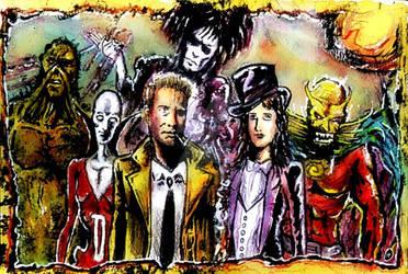 Dark  justice league and Sandman