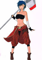 Nagamonogatari 9: ASR - Arumi Homura by Blankeye-Sigma