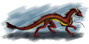 Gold-Flanked Dragon by ElvenAngel