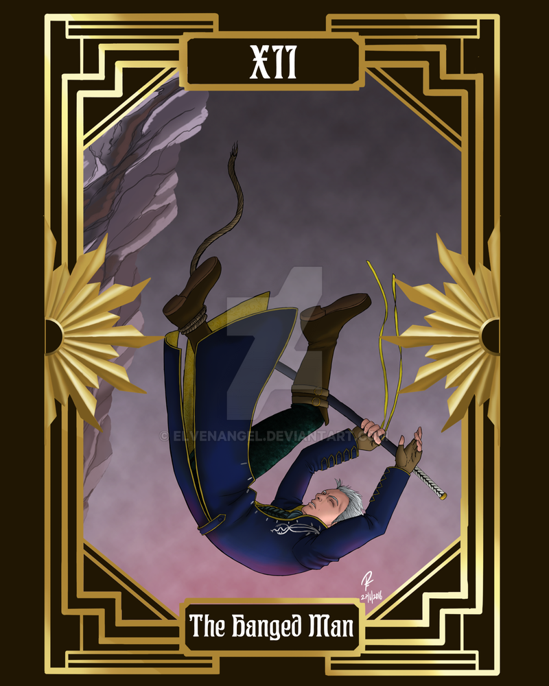 DMC Tarot - 12 - The Hanged Man by ElvenAngel