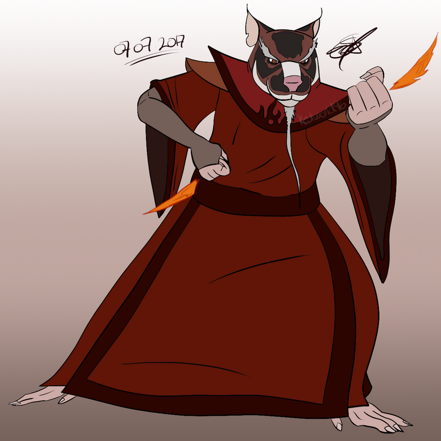 Firebending Master Splinter by Redworld96 on DeviantArt