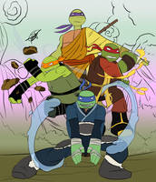 TMNT-ATLA Crossover | Turtles' Poster by Redworld96