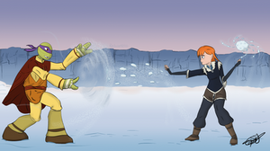 DAY 5: Which element wins in a SnowBall fight by Redworld96