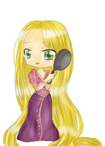 Chibi Rapunzel by Miku-Chuu