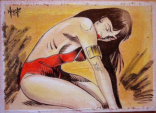 Vampirella Sketchcard 18 by RobertHack