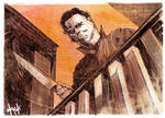 Michael Myers Sketchcard by RobertHack