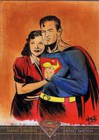 Superman: The Legend sketchcard 11 by RobertHack