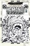More Inks over Kirby- unused Kamandi #18 cover
