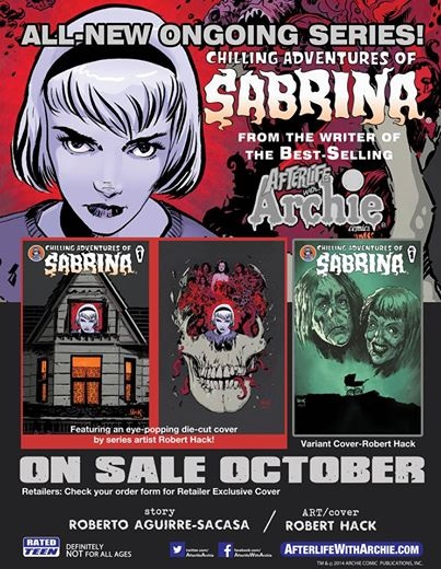 Sabrina #1 in shops tomorrow by RobertHack