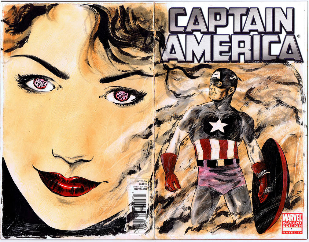 Captain America sketch cover by RobertHack