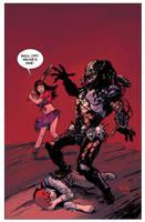 Archie VS Predator #2 variant cover by RobertHack